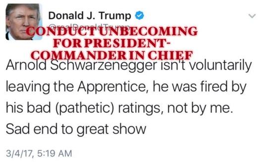 Trump on Schwarzenegger tweet conduct unbecoming