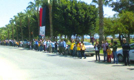 Human Chain Protest against Akkuyu Nuclear Power Station.  Photo by Nedim Ardoğa, CC-BY-SA 3.0, via Wikipedia