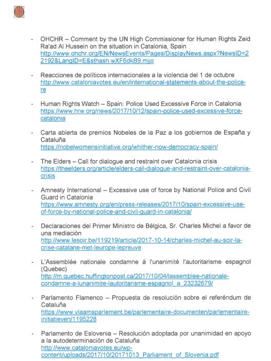 Catalan President Puigdemont Letter to Spanish PM Rajoy, Monday 16