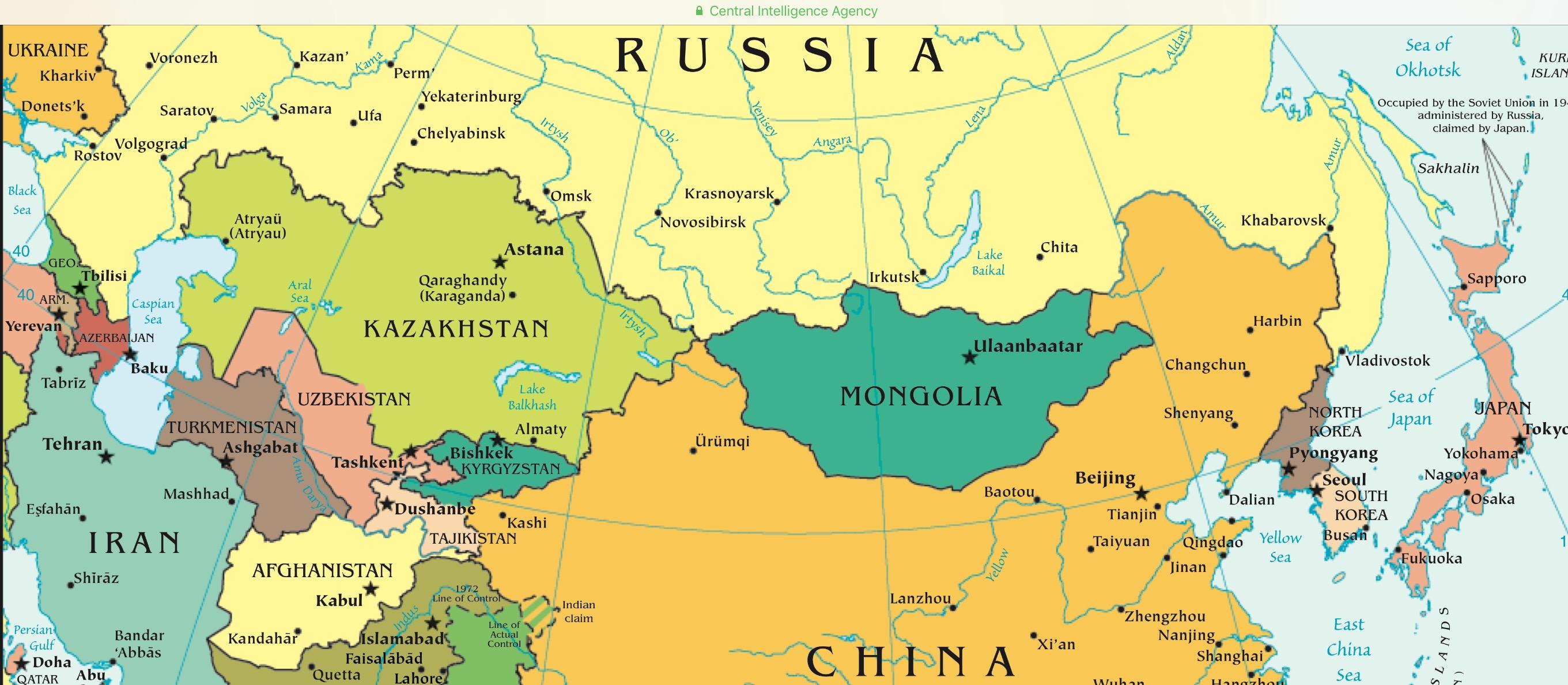 Uzbekistan Map In Regional Context CIA Gov Mining Awareness - Uzbekistan map