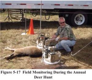 SRS cesium testing deer