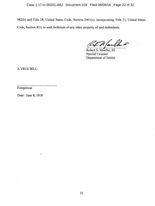 Third Superseding Indictment: United States v  Manafort and