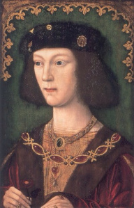 Henry VIII in 1509 at 18 yrs old