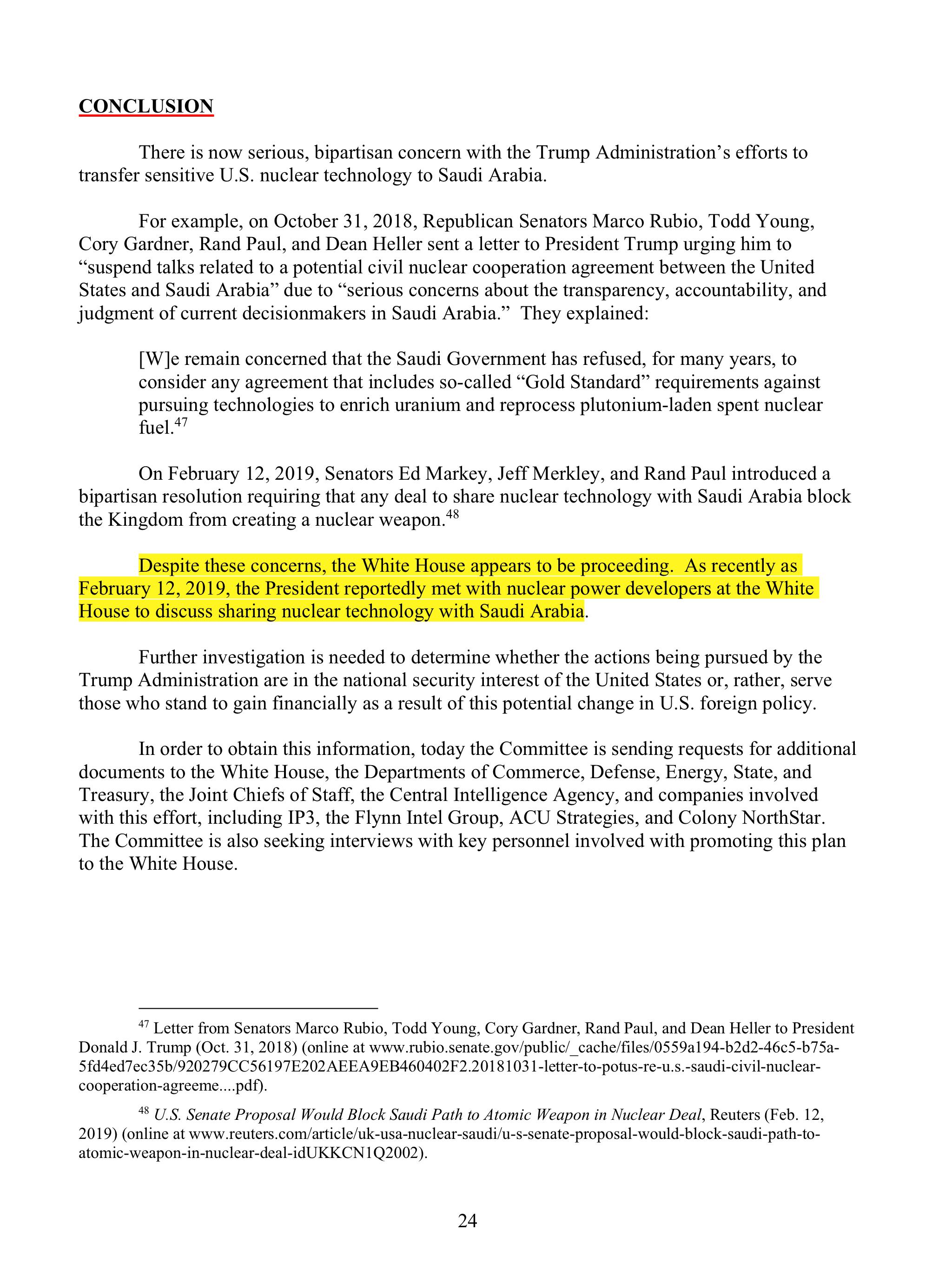 23 Whistleblowers Raise Grave Concerns with Trump
