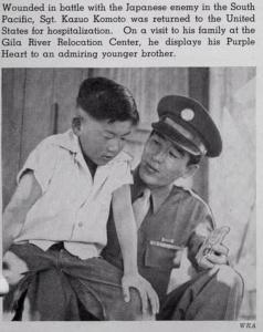 Japanese American war hero Purple Heart Pacific Theater WRA